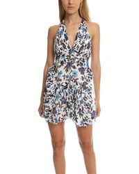Thakoon Mini Halter Dress - Blue