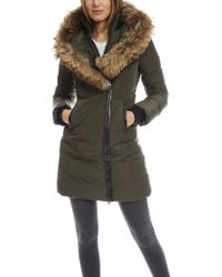 Mackage Kay Fur-Trimmed Down Parka - Green
