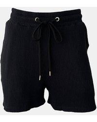 The Range Jumbo Stark Drawstring Short Dress - Black