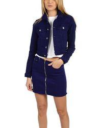 Cotton Citizen Crop Denim Jacket - Purple