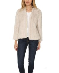 H Brand Emily Fur Jacket - Natural