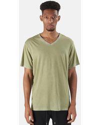 Cotton Citizen Classic V Neck Top - Green
