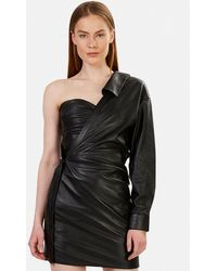 RTA Lana Leather Dress - Black