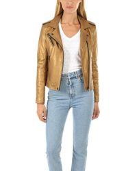 IRO Newhan Leather Jacket - Metallic