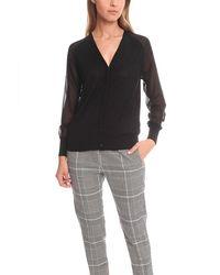 3.1 Phillip Lim Hidden Placket Cardigan Sweater - Black