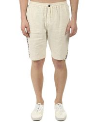 President's Tripoli Embellished Bermuda Shorts - Natural