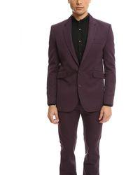Acne Studios Gerald Shiny Suit Jacket Wine - Purple