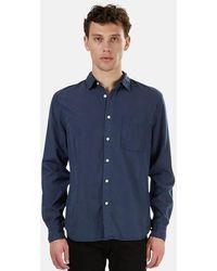 Kato The Ripper Slim French Seam Shirt - Blue