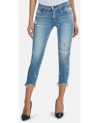 Moussy Vintage Glendele Skinny Jeans - Blue