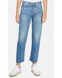 RE/DONE High Rise Stove Pipe Jeans - Blue
