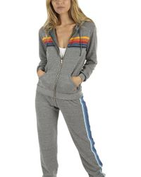 Aviator Nation - 5 Stripe Hoody - Lyst