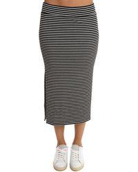 ATM Striped Rib Skirt - Black