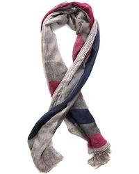 Yigal Azrouël Feathers Scarf - Gray
