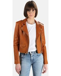 IRO Ashville Leather Jacket - Brown