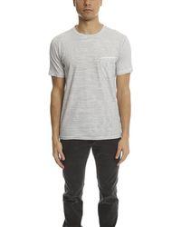 Rag & Bone Garment Striped Pocket Classic T-shirt - White