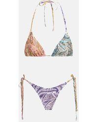Zimmermann Brighton Mini Tri Bikini Swimwear - Multicolour