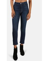 Mother The Dazzler Straight Jeans - Blue