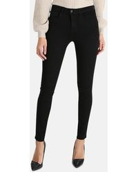 L'Agence Marguerite High Rise Skinny Trousers - Black