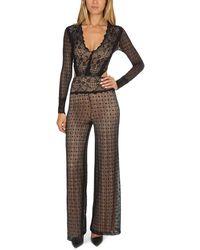 Nightcap Mesh Lace Jumpsuit - Black