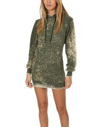 Cotton Citizen Milan Backless Hoody Dress - Green