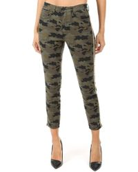 L'Agence - Margot Cropped Camouflage-print High-rise Skinny Jeans - Lyst