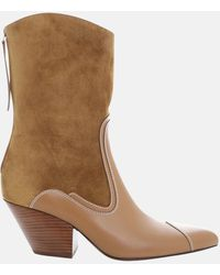 Zimmermann Paneled Tonal Boot Shoes - Natural