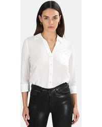 L'Agence Ryan 3/4 Sleeve Blouse - White