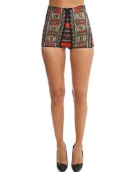 Camilla High Waisted Tailored Shorts - Black