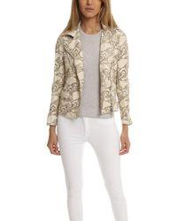 Giorgio Brato Asym Lace Leather Jacket - Natural