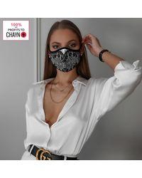 Bluebella Gesichtsbedeckung Schwarz/ - Weiß