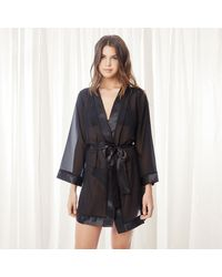 Bluebella Chiffon-Kimono - Schwarz