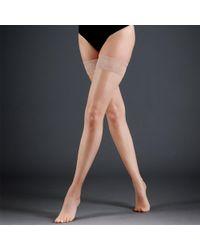 Bluebella Hold Ups Plain Leg/lace Top Nude - Natural