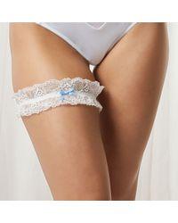 Bluebella Bridal Garter Ivory/blue - White