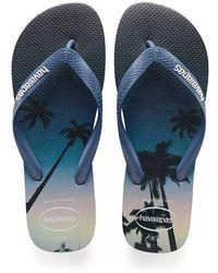 Havaianas - Navy/blue Hype Flip Flops - Lyst