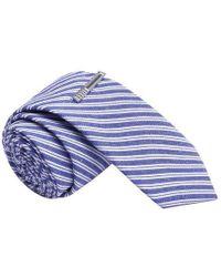 Skinny Tie Madness - Shakey Ground Limbo Striped Skinny Tie With A Tie Clip - Lyst