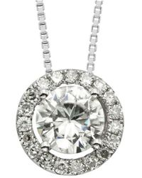 Charles & Colvard - Forever Classic Moissanite Earrings And Pendant Necklace Set - Lyst