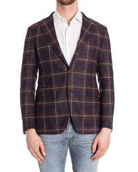 Tagliatore - Men's Brown Wool Blazer - Lyst