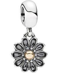 PANDORA - 14k & Silver Oopsie Daisy Charm - Lyst