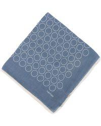 Tom Ford | Men's Denim Blue Wide Hoop Silk Pocket Square | Lyst