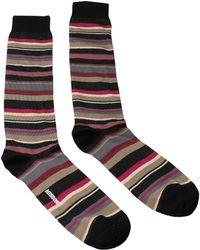 Missoni - Gm00cmu5235 0003 Tan/pink Knee Length Socks - Lyst