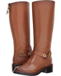 f38b9435e53d COACH - Womens Sutton Leather Round Toe Knee High Fashion Boots - Lyst
