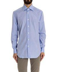 Kiton - Men's Light Blue Cotton Shirt - Lyst