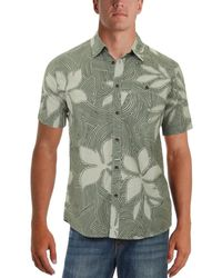Quiksilver - Mens Sunburst Printed Tailored Fit Button-down Shirt - Lyst