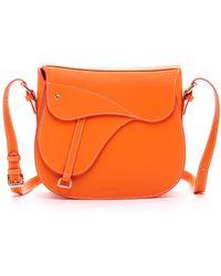 Susu - Mia Saddel Crossbody Leather Orange - Lyst