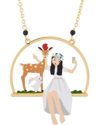 Les Nereides - Snow White Selfie Time With The Doe Necklace - Lyst