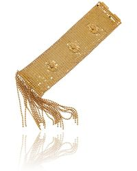Roberto Cavalli - Gold Lion Head Chain Mesh Cuff Bracelet - Lyst