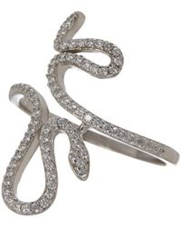 Adornia - Sterling Silver Snake Ring - Lyst