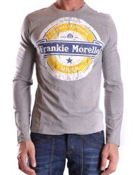 Frankie Morello - Men's Mcbi125046o Grey Cotton T-shirt - Lyst