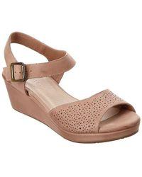 Chocolat Blu - Yin Leather Wedge Sandal - Lyst