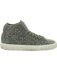 Alexander Smith - Men's Green Leather Hi Top Sneakers - Lyst
